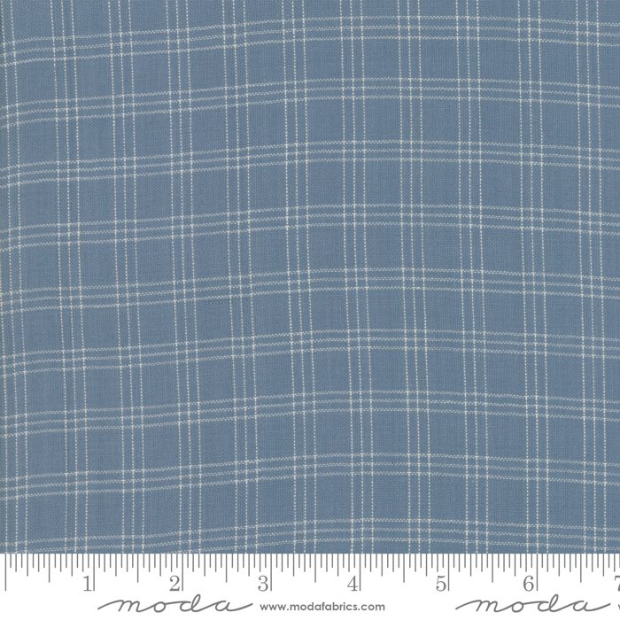 Northport Wovens 12215-18 Silky Plaid Medium Blue by Minick & Simpson for Moda