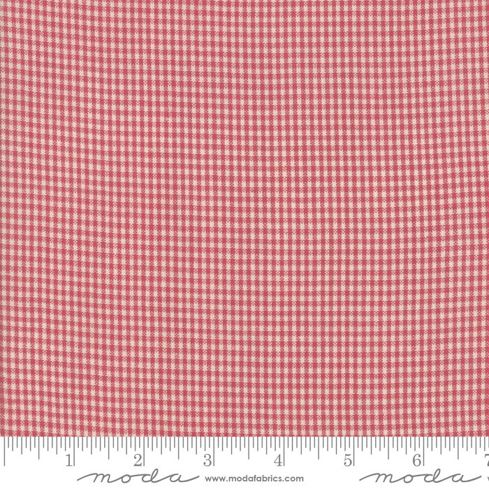 Northport Wovens 12215-30 Silky Check Red by Minick & Simpson for Moda