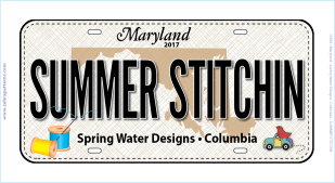 SWD 2017 Row by Row Custom License Plate Summer Stitchin