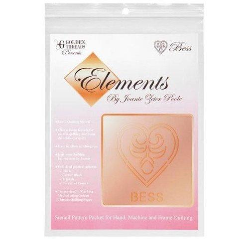 Golden Threads Stencil Pattern Pack Elements - Bess