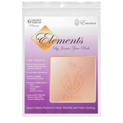 Golden Threads Stencil Pattern Pack Elements - Emma