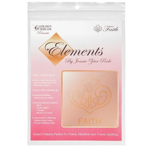 Golden Threads Stencil Pattern Pack Elements - Faith