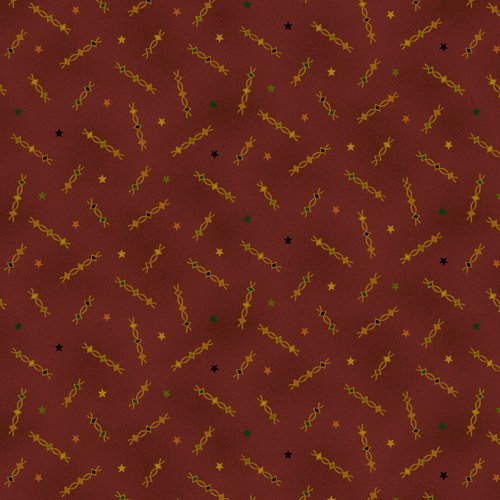 Liberty Star Q-1571-88 Deep Red Star Squiggles by Kim Diehl