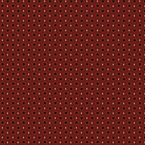 Liberty Star Q-1573-88 Deep Red Sprinkled Stars by Kim Diehl