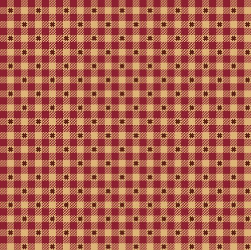 Liberty Star Q-1576-88 Deep Red Gingham Stars by Kim Diehl