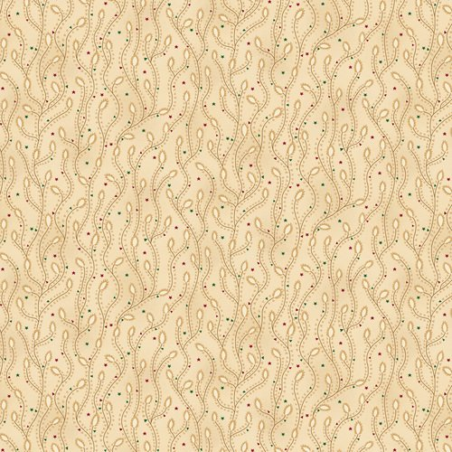 Liberty Star Q-1581-44 Cream Triangle Star Vines by Kim Diehl