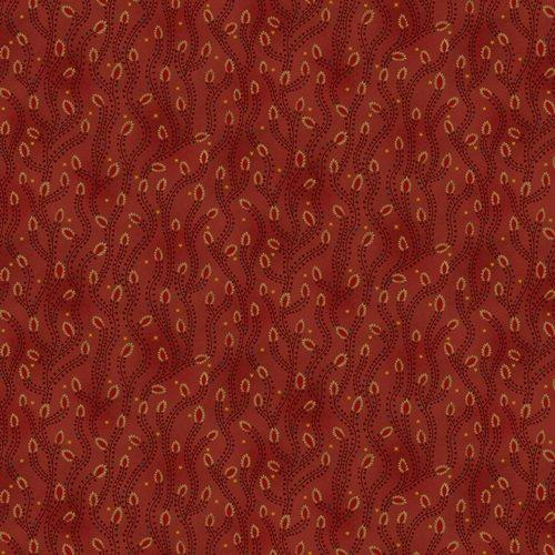 Liberty Star Q-1581-88 Deep Red Triangle Star Vines by Kim Diehl