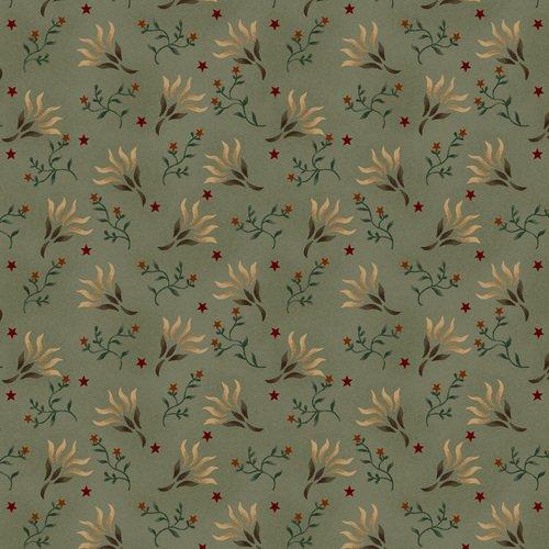 Liberty Star Q-1583-11 Aqua Stars & Seaweed Blossoms by Kim Diehl