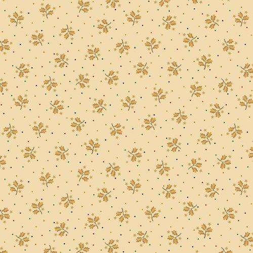Liberty Star Q-1585-44 Cream Sprigs & Stars by Kim Diehl