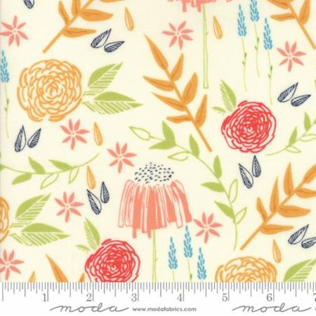 Creekside Meadow 37530-11 Ivory by Sherri & Chelsi of A Quilting Life for Moda