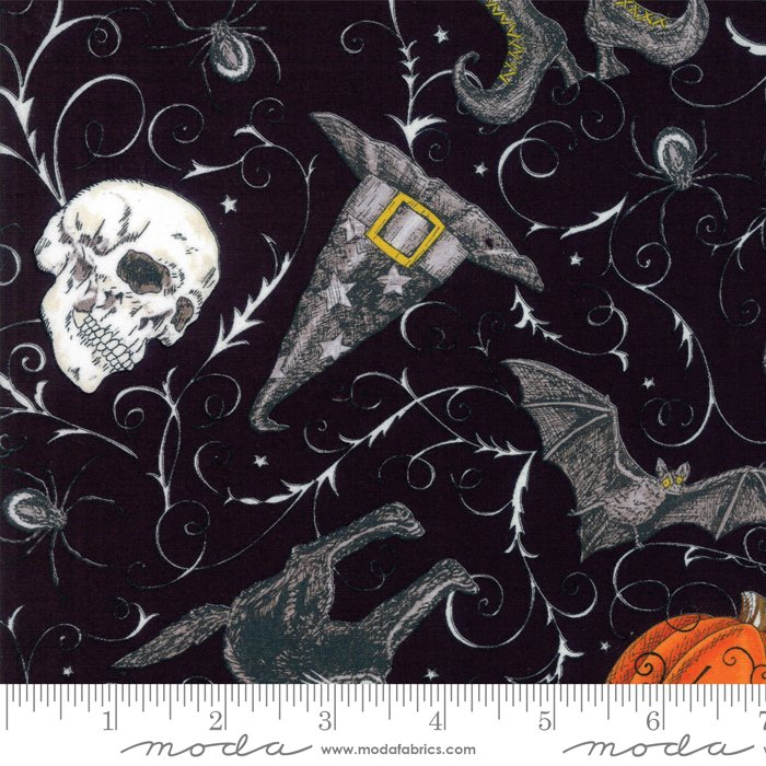 Bewitching 19840-11 Midnight Black by Deb Strain for Moda