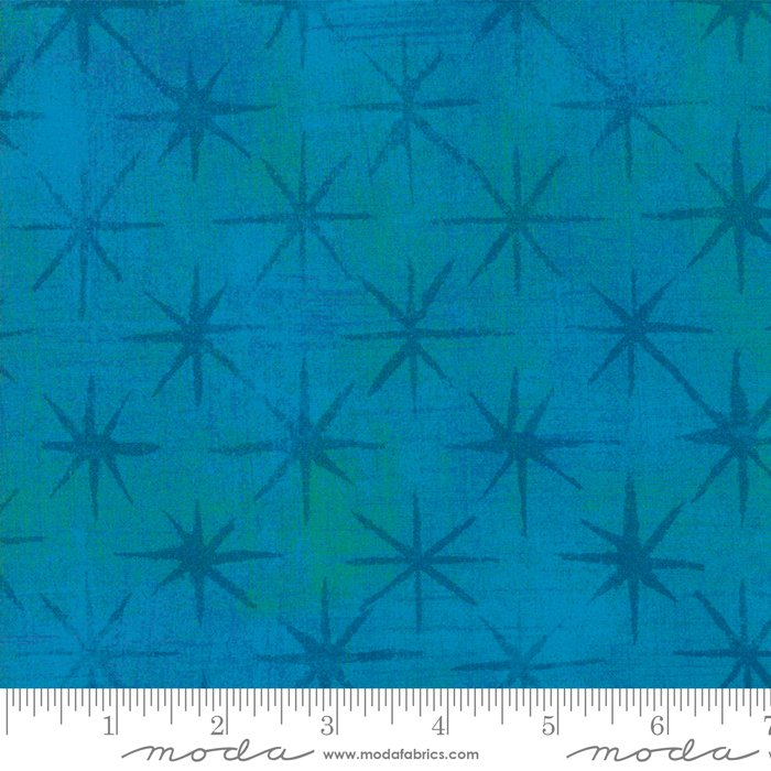Grunge 30148-39 Turquoise Seeing Stars by Moda