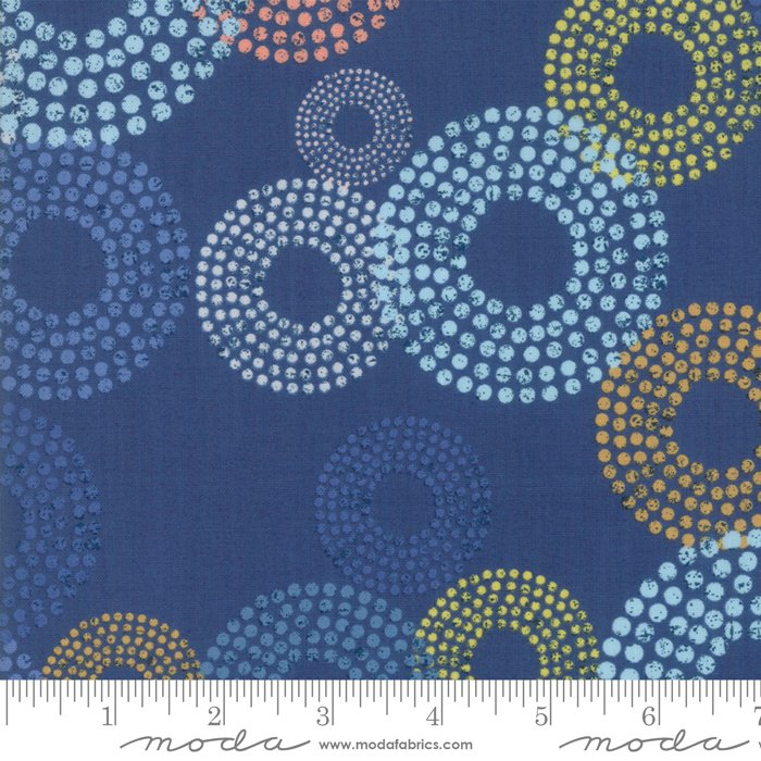 Breeze 1690-16 Dottie Circles Indigo by Zen Chic for Moda