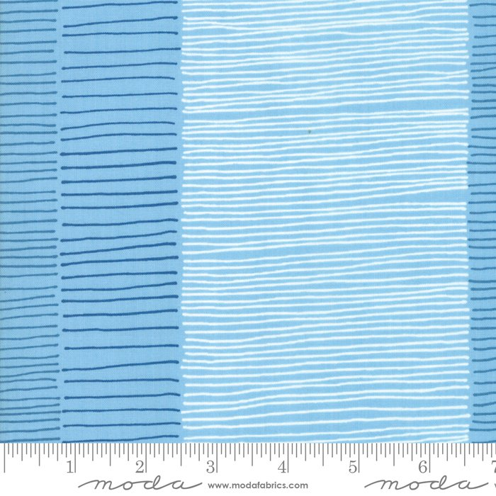 Breeze 1692-13 Fire Lines Azure by Zen Chic for Moda