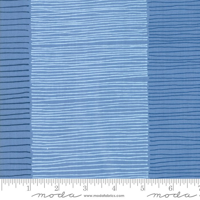 Breeze 1692-14 Fire Lines French Blue by Zen Chic for Moda