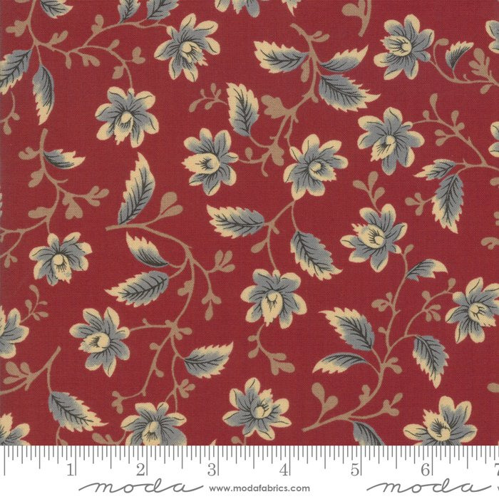 Nancy's Needle 31600-20 Berry Red by Betsy Chutchian for Moda