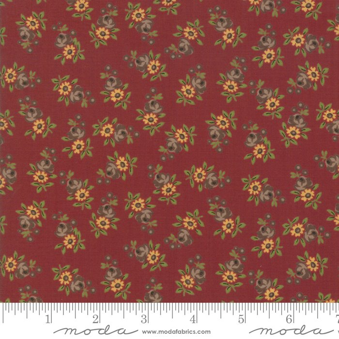 Nancy's Needle 31603-19 Berry Red by Betsy Chutchian for Moda