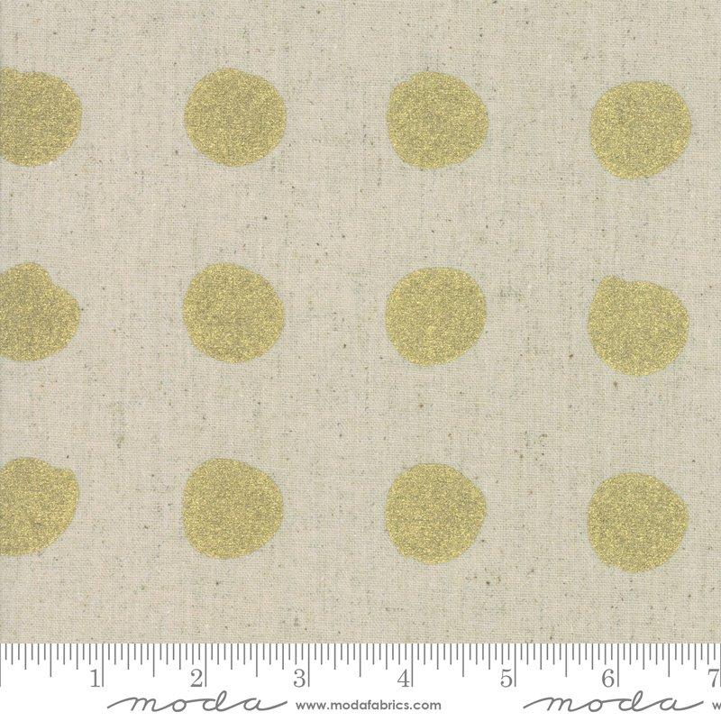 Chill Mochi Linen 1717-13LM Gold Dot from Zen Chic for Moda