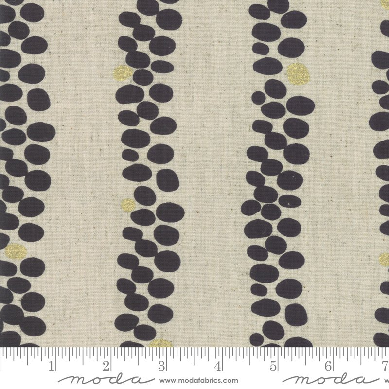 Chill Mochi Linen 1718-12LM Charcoal from Zen Chic for Moda