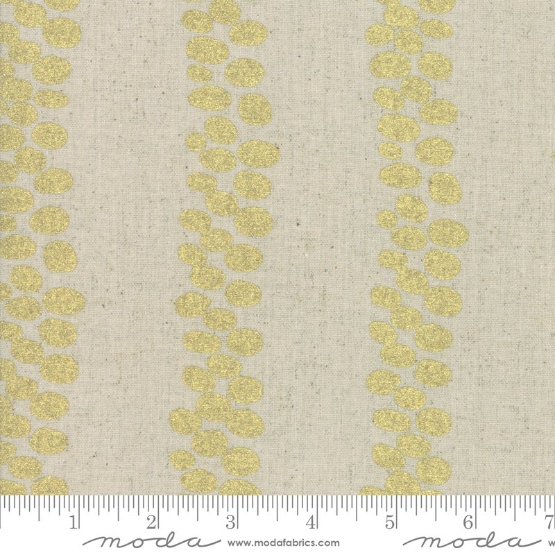 Chill Mochi Linen 1718-13LM Gold from Zen Chic for Moda