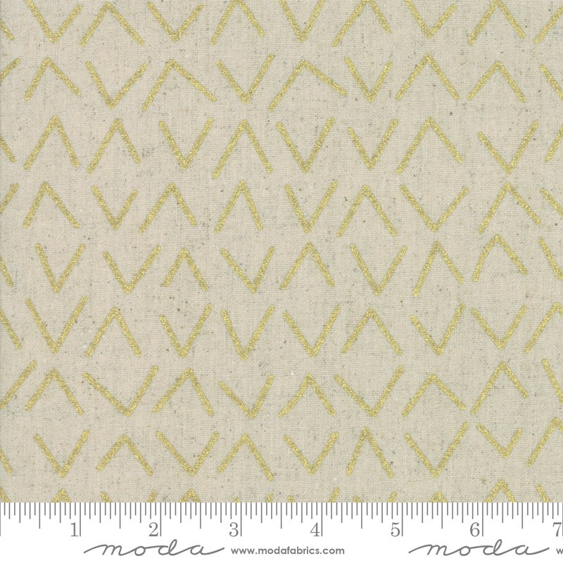Chill Mochi Linen 1719-13LM Gold from Zen Chic for Moda