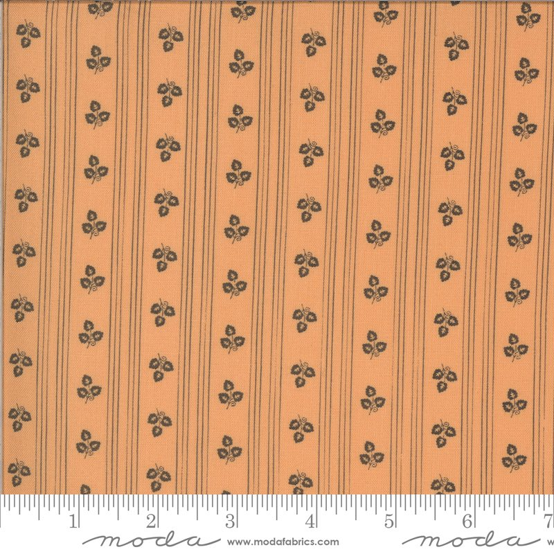Squirrelly Girl 2973-11 Stripe Apricot by Bunny Hill Designs for Moda