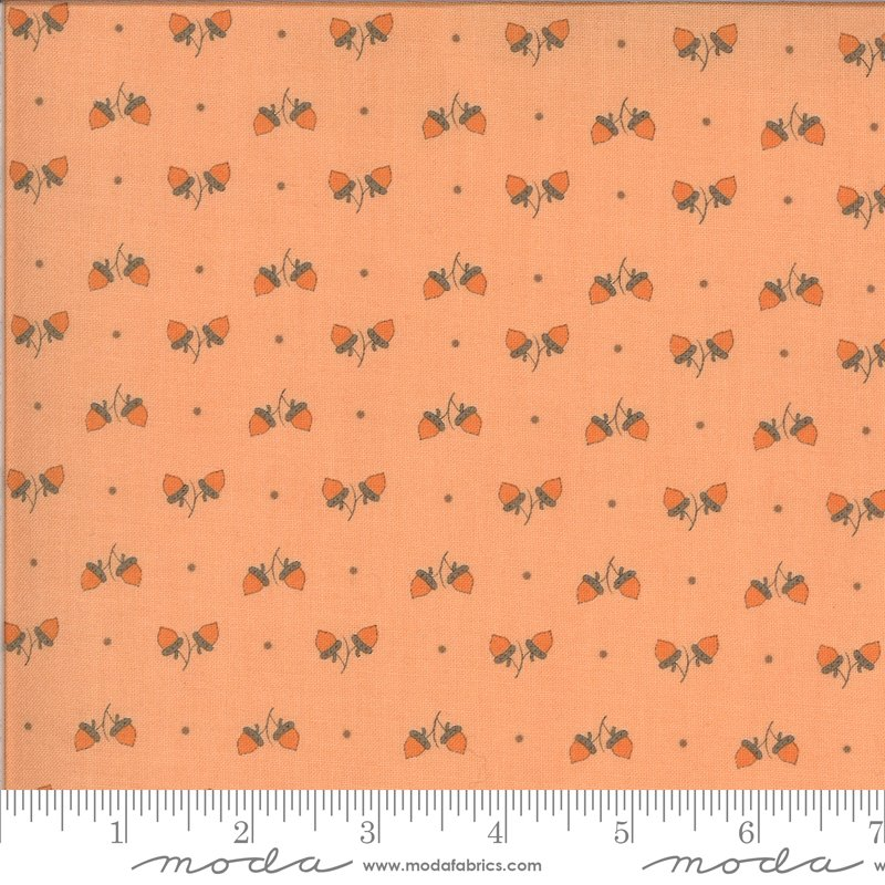 Squirrelly Girl 2975-11 Acorns Apricot by Bunny Hill Designs for Moda