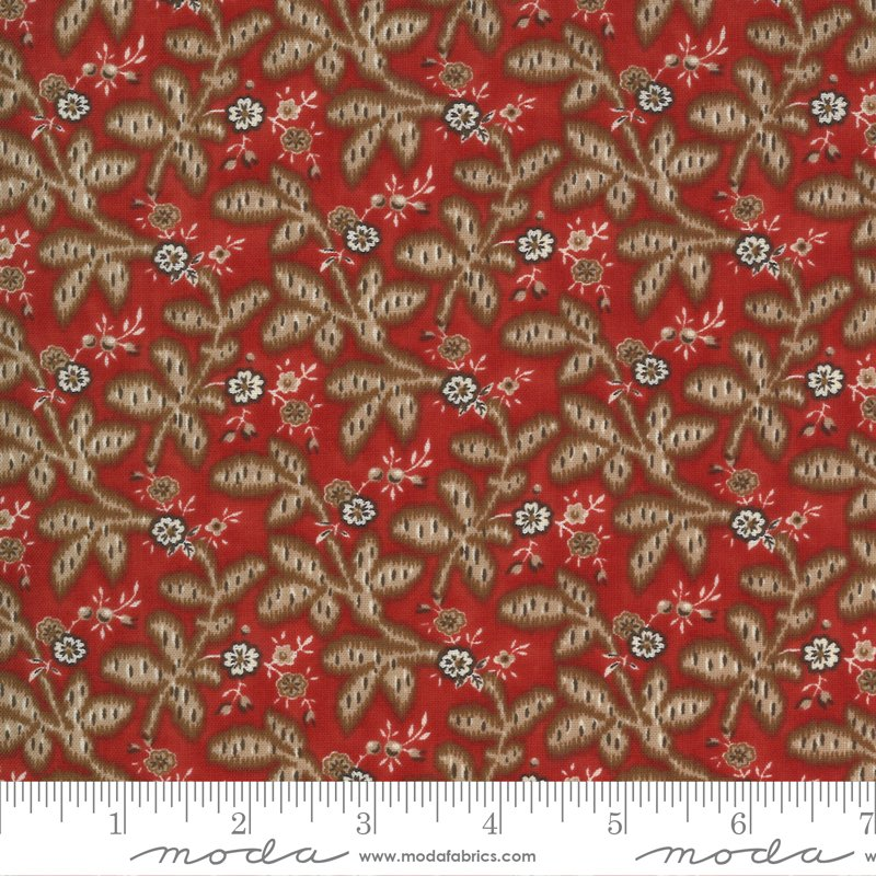 Ladies Legacy 8352-12 Cooper Red by Barbara Brackman for Moda Fabrics