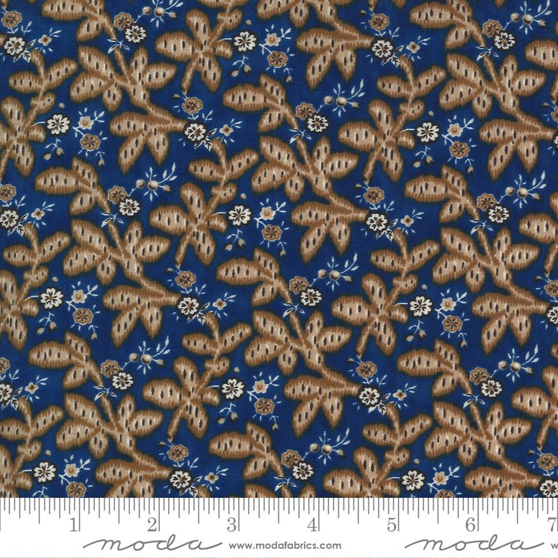 Ladies Legacy 8352-13 Union Blue by Barbara Brackman for Moda Fabrics
