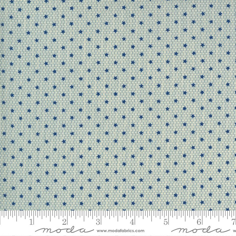 Ladies Legacy 8354-13 Union Blue by Barbara Brackman for Moda Fabrics