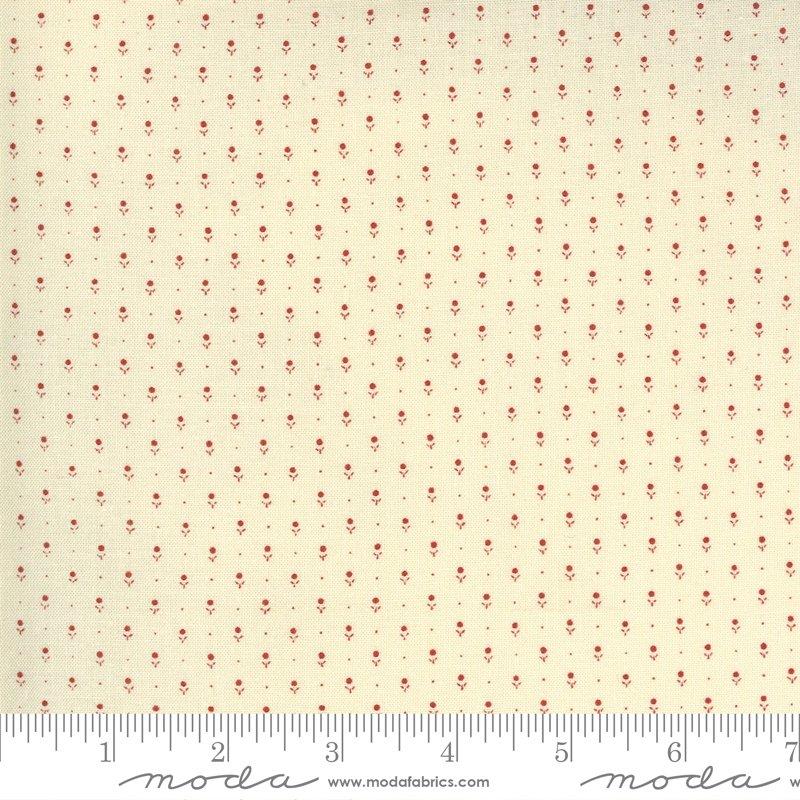 Ladies Legacy 8359-15 Ivory Red by Barbara Brackman for Moda Fabrics
