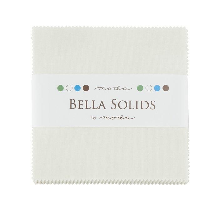 Bella Solids Charm Pack 9900PP-182 Porcelain Moda
