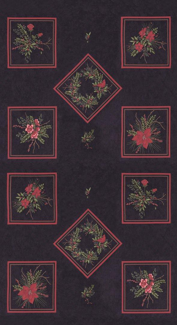 Winter Manor Panel 6770-17 Ebony by Holly Taylor for Moda