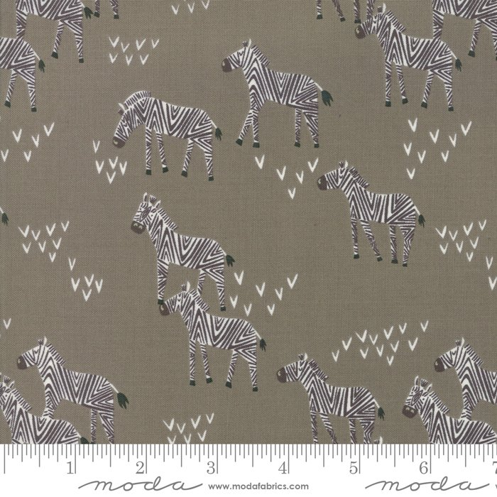 Safari Life 20645-13 Zebras Ash by Stacy Iest Hsu for Moda
