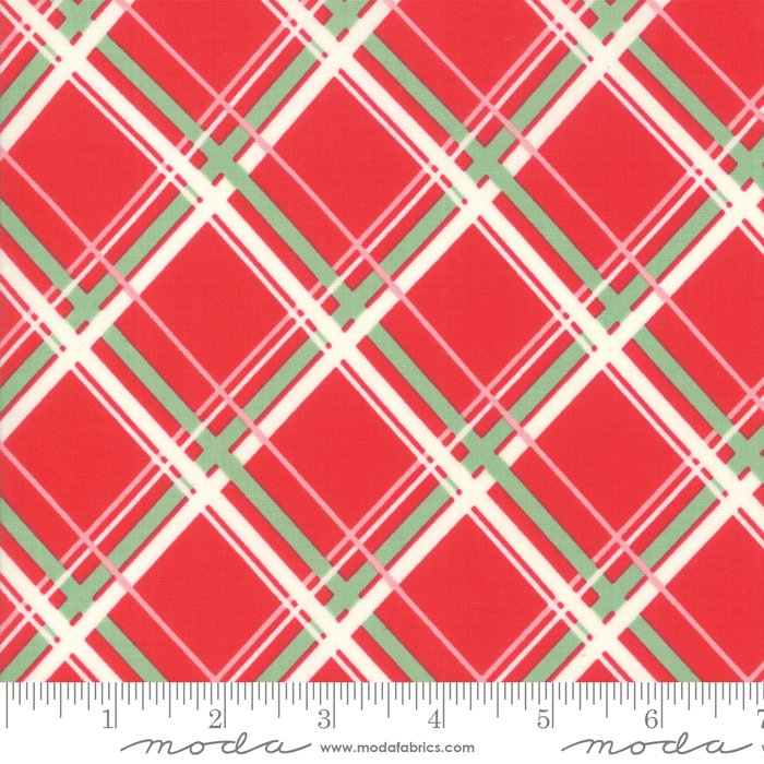 Deer Christmas 31162-12 Peppermint Plaid by Urban Chiks for Moda