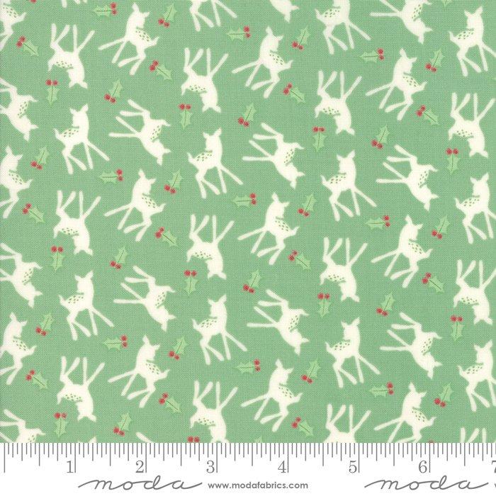 Deer Christmas 31164-14 Spearmint Deer by Urban Chiks for Moda