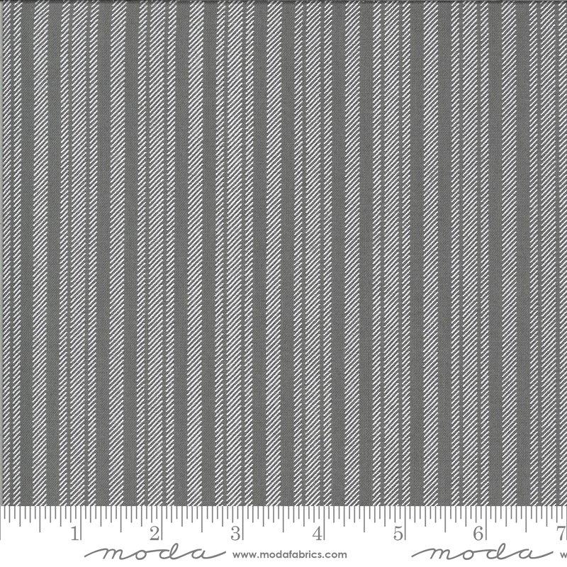 Apricot & Ash  29107-19 Gray Stripe by Cory Yoder for Moda