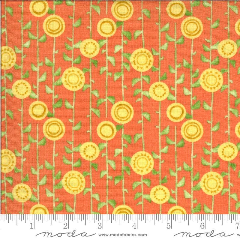 Solana 48683-18 Stalks Clementine by Robin Pickens for Moda