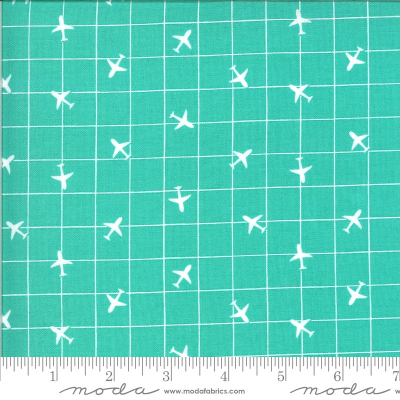 On The Go 20726-12 Jet Stream Airplane Grid for Moda