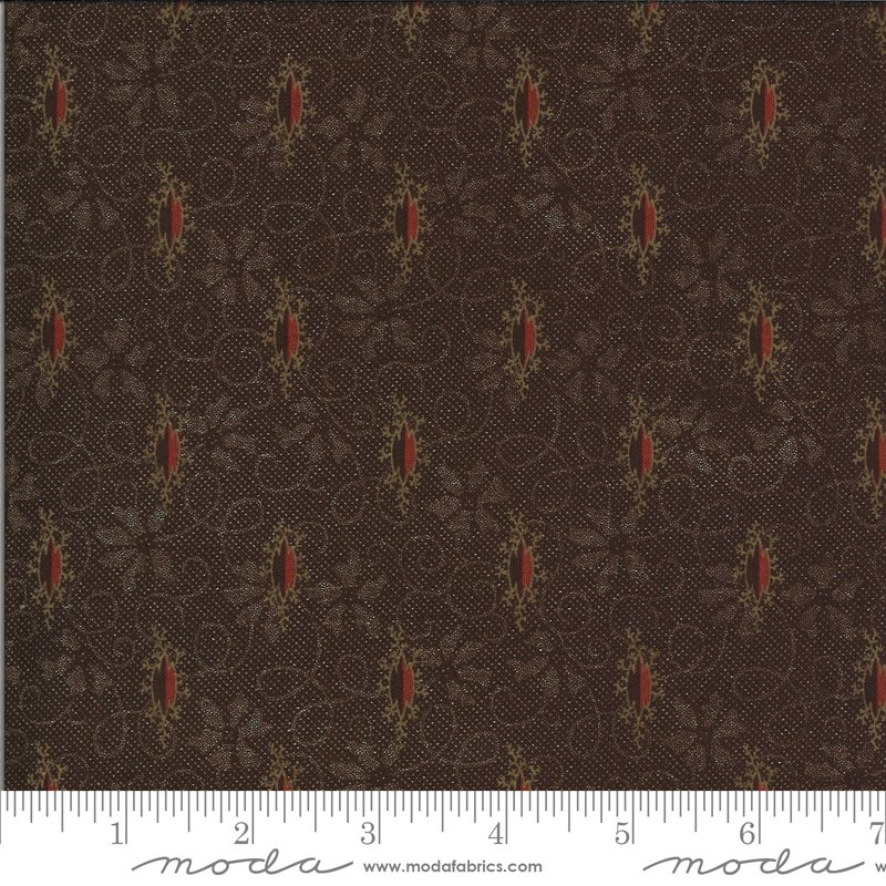 Hopewell 38110-17 Dark Chocolate by Jo Morton for Moda Fabrics