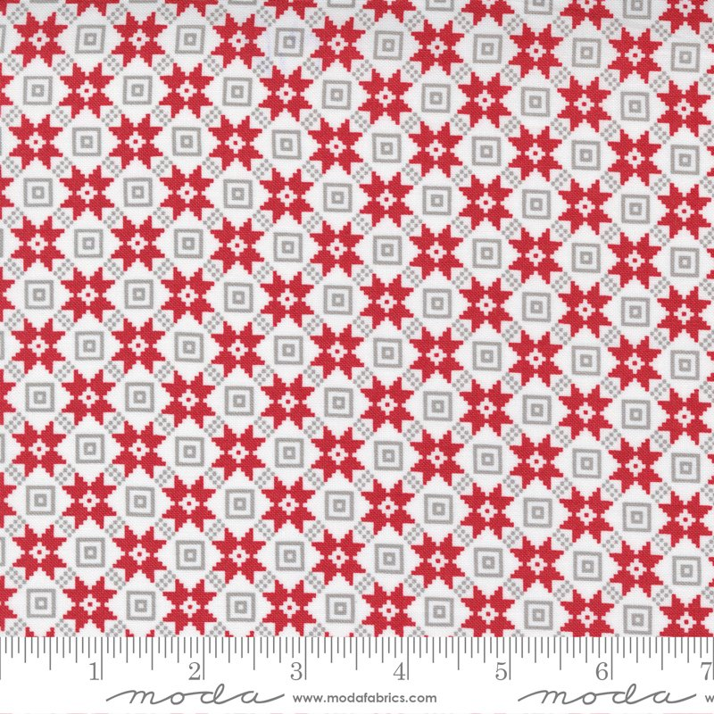 Christmas Morning 5144-11 Snow by Lella Boutique for Moda