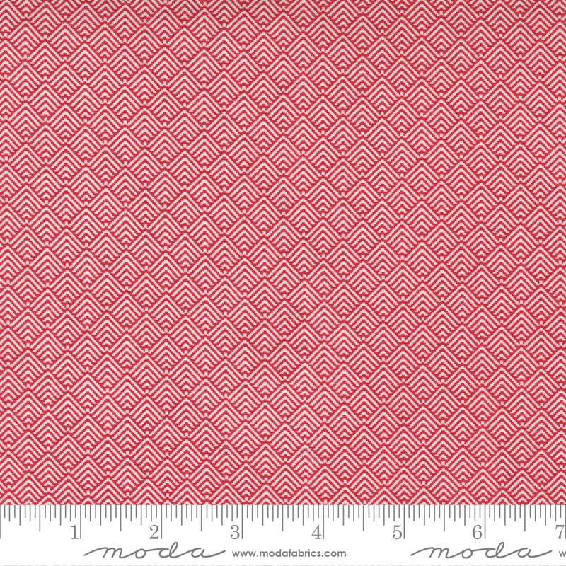 Christmas Morning 5146-16 Cranberry by Lella Boutique for Moda
