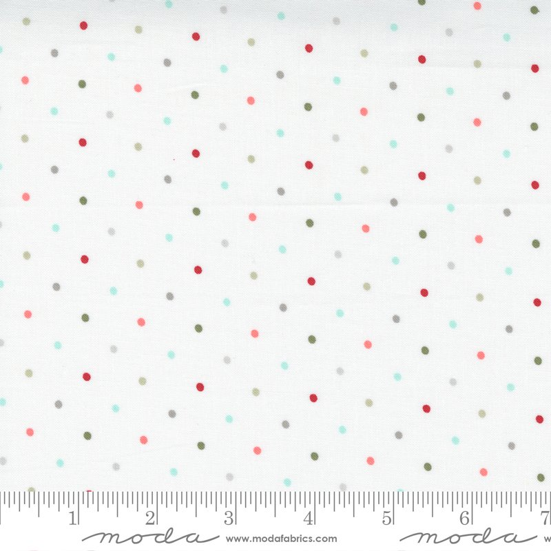 Christmas Morning 5147-11 Dots Snow Multi by Lella Boutique for Moda