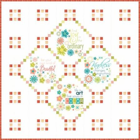 Well Said Quilt Kit designed by Sandy Gervais