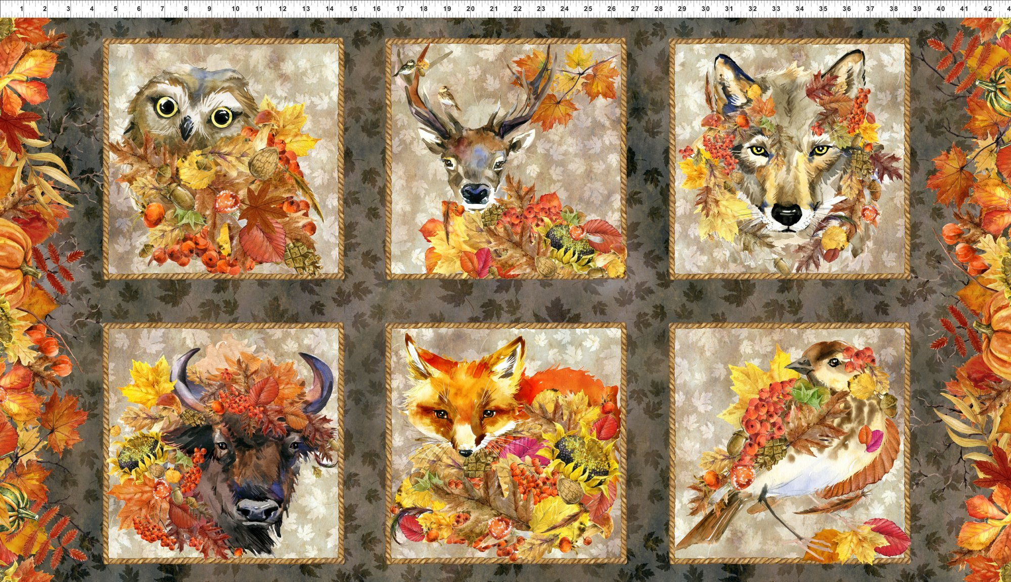 Our Autumn Friends Panel 1OAF1 In The Beginning Fabrics