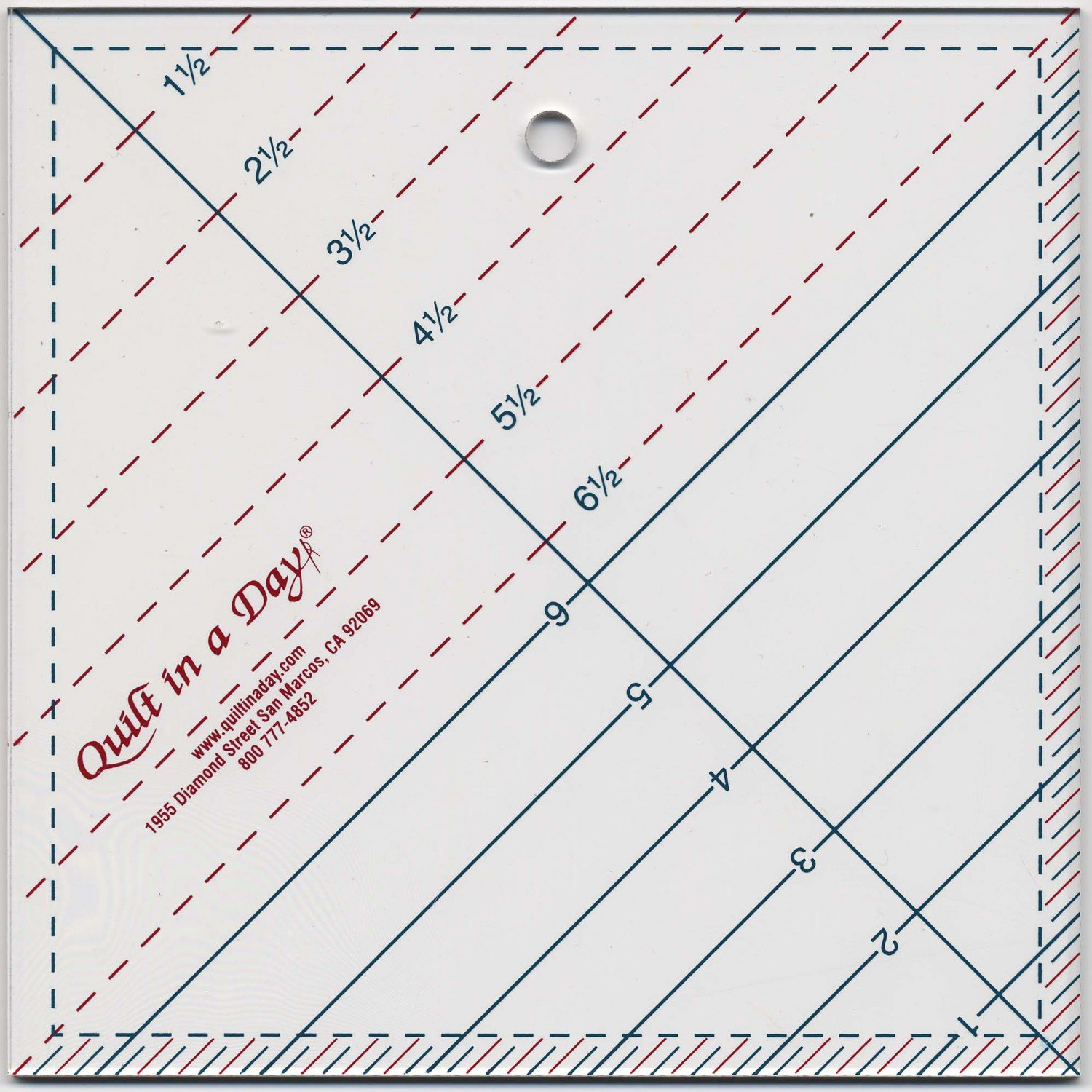 Triangle Square Up Ruler from Quilt in a Day