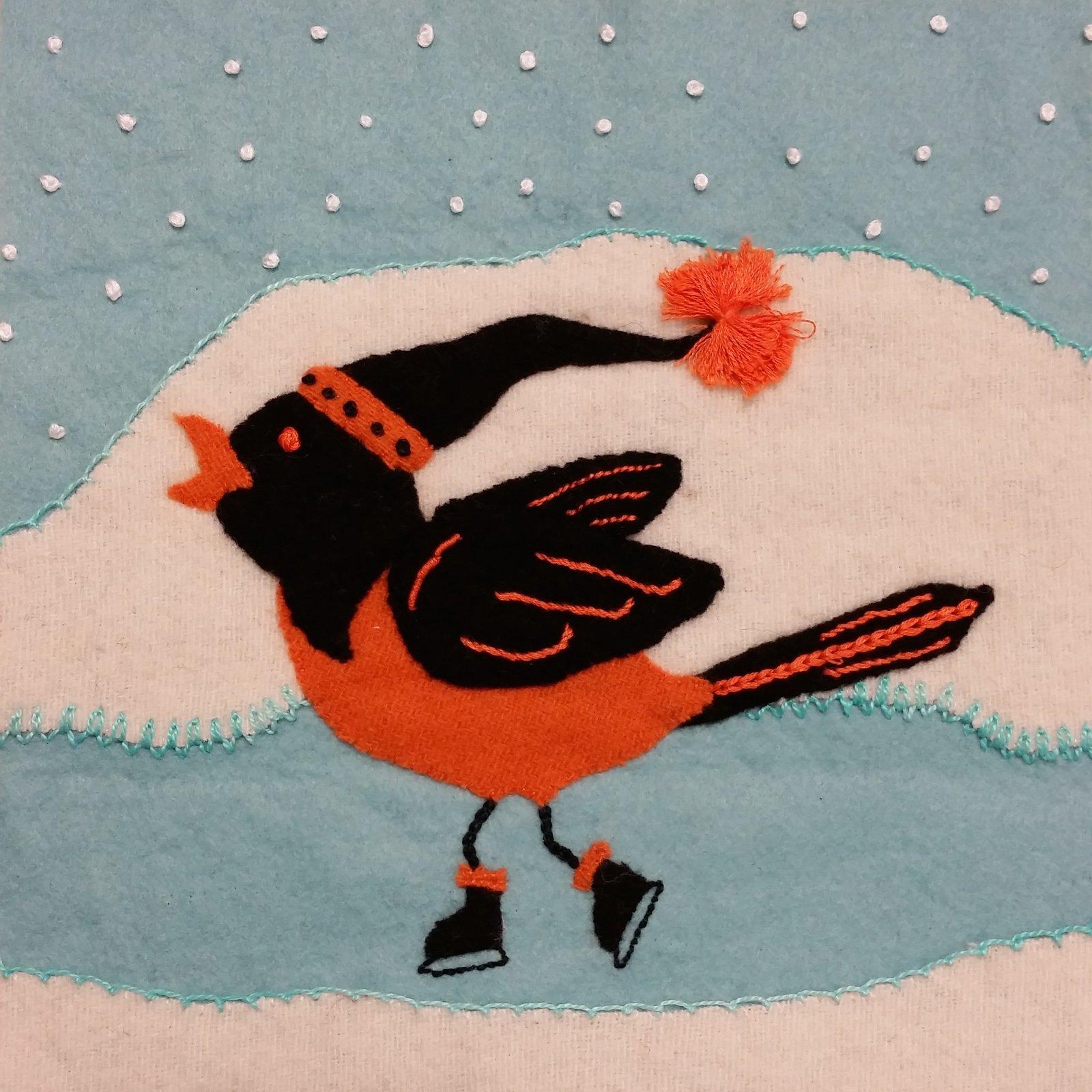 Wooly Block Adventure Winter 2016 Block Kit - Winter Wonder Bird