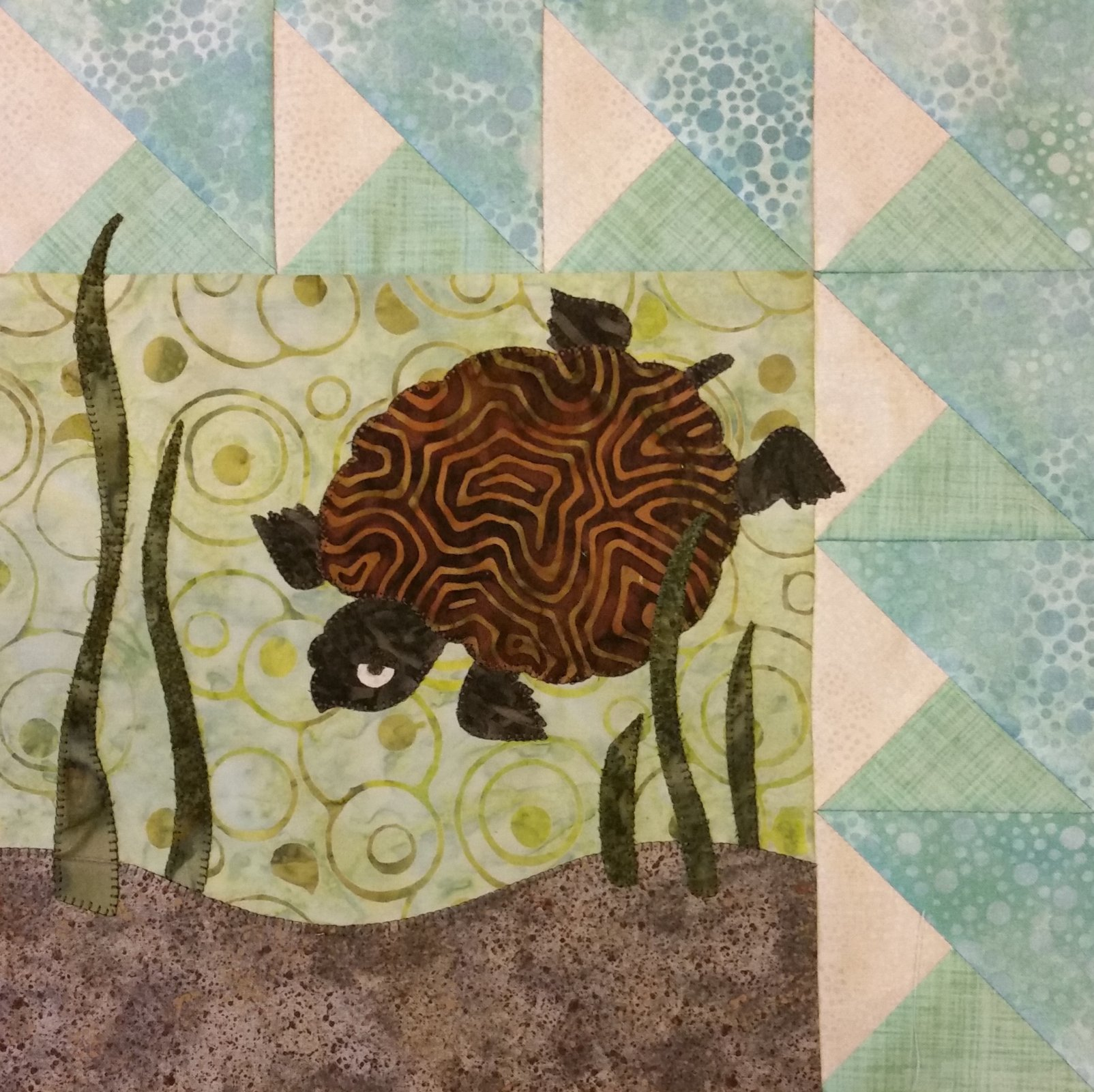 Quilts Around the Bay 2017 SWD Terrapin Block Kit