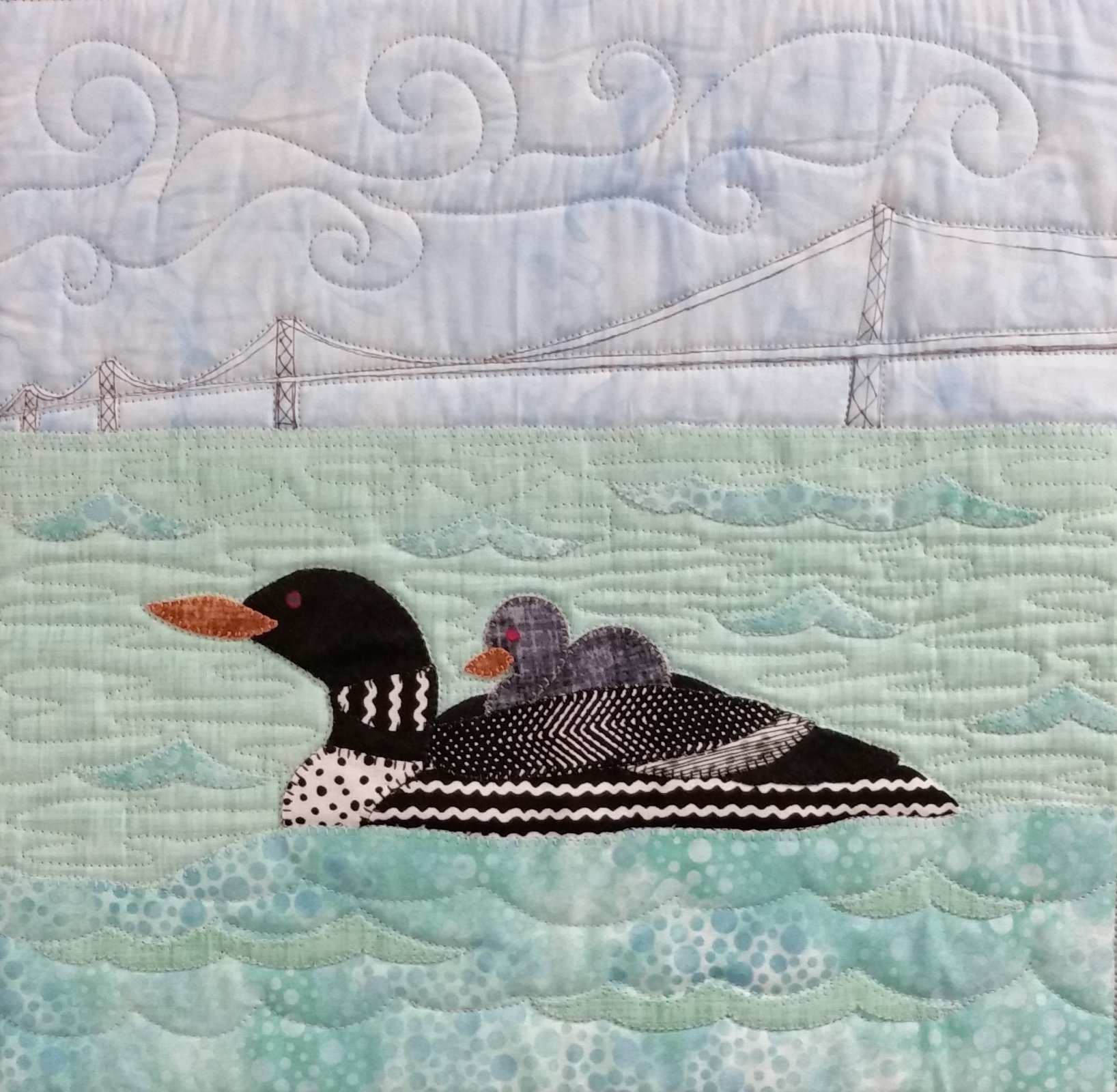 Quilts Around the Bay 2017 SWD Loon Block Kit