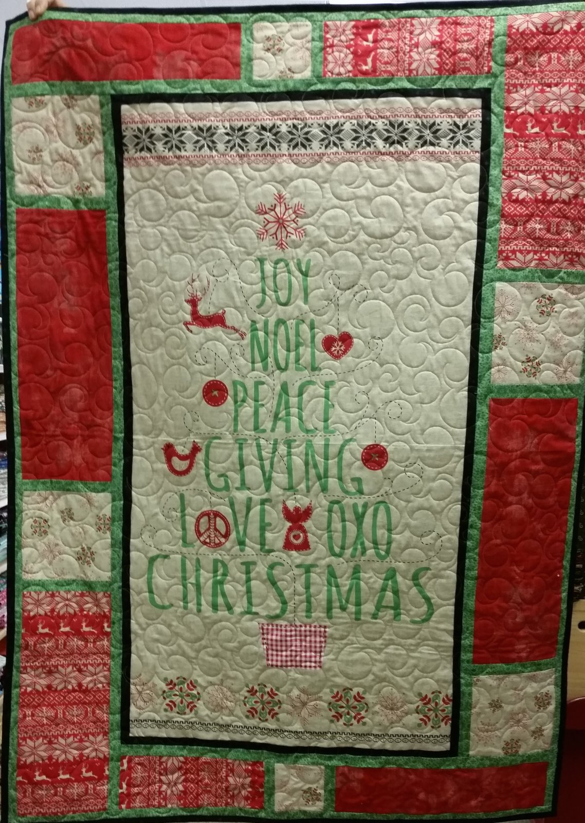 Nordic Christmas Wall Hanging Quilt Kit
